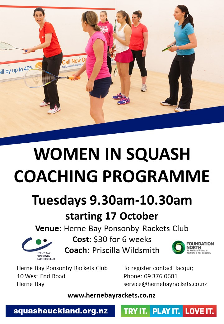 Women in Squash poster template - Herne Bay